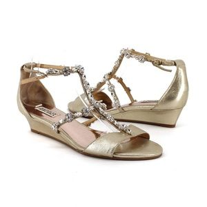 Badgley Mischka | Terry Embellished Strap Sandal